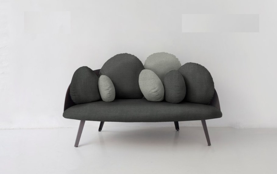 Nubilo - a miniature sofa in a cloud shape - gray