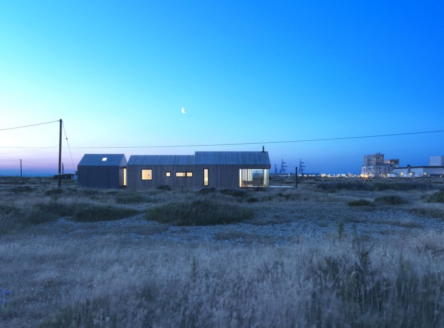 Pobble House by Guy Hollaway Architects - Exterior - Night