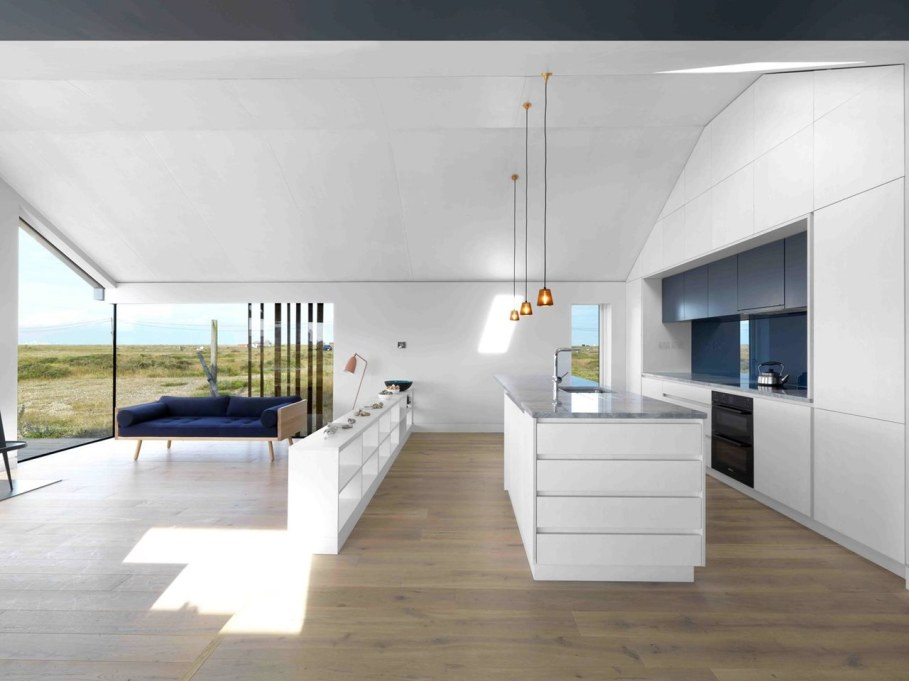 Pobble House by Guy Hollaway Architects - Kitchen island