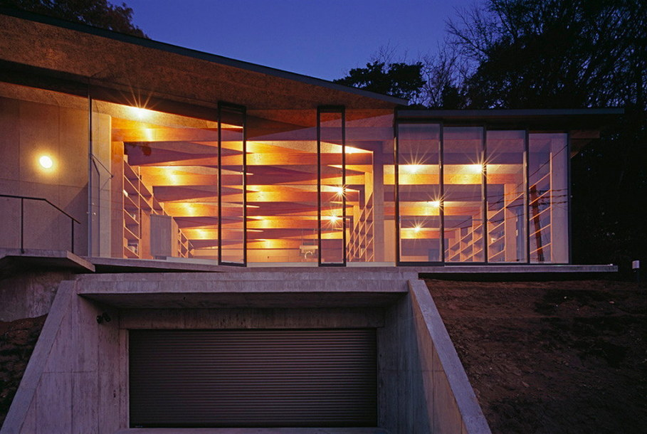 The house is on top of a ridge in Japan 2