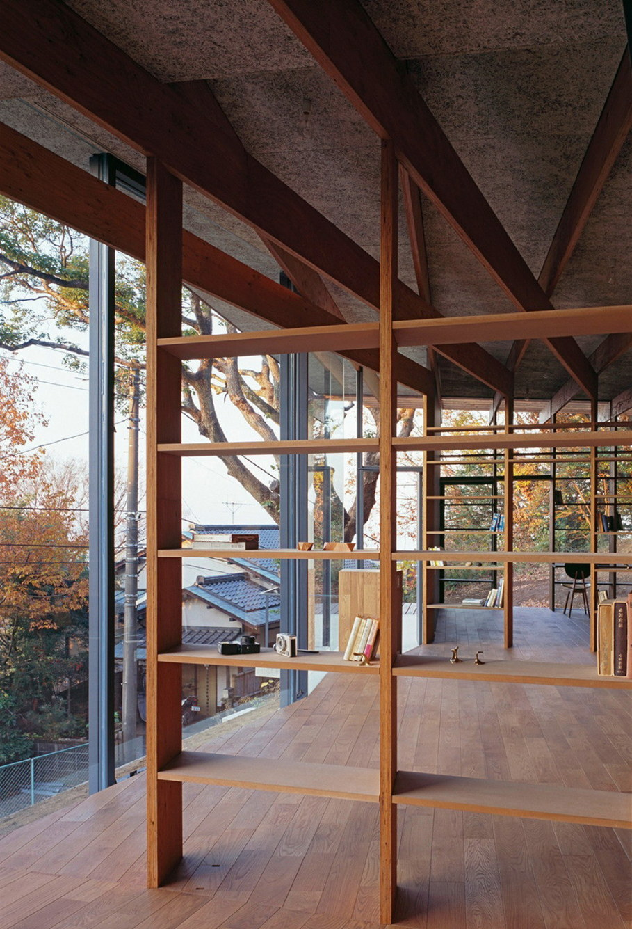 The house is on top of a ridge in Japan 8