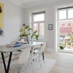 The modern design of the old apartment in Sweden