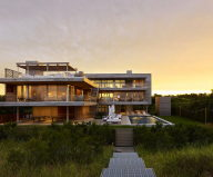 House with terraces on the seashore