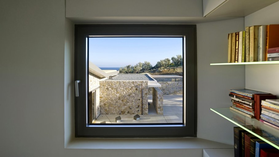 Two villas on the Aegean coast - window