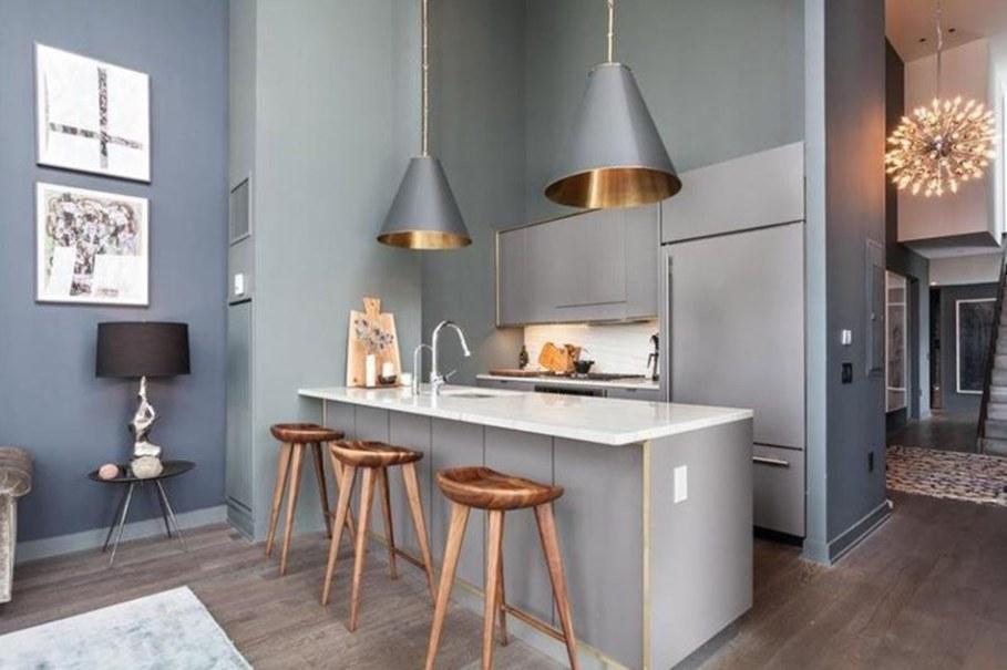 luxury apartments in New York kitchen island 1