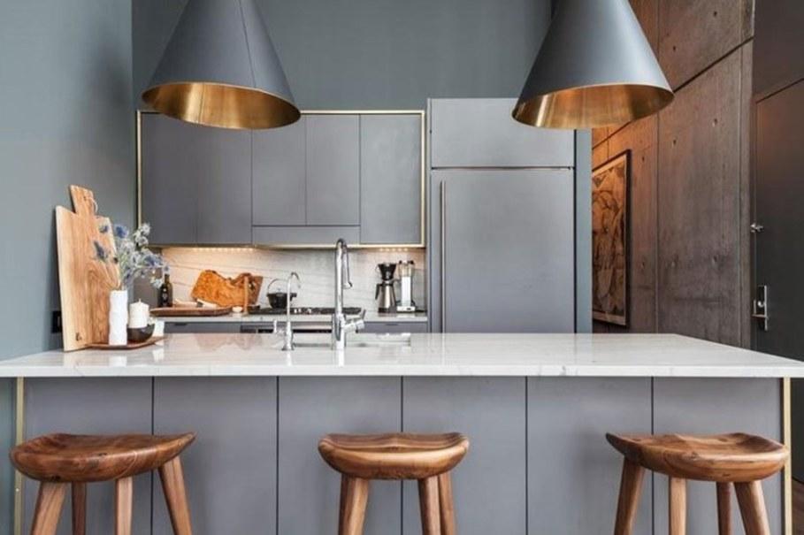 luxury apartments in New York kitchen island 2