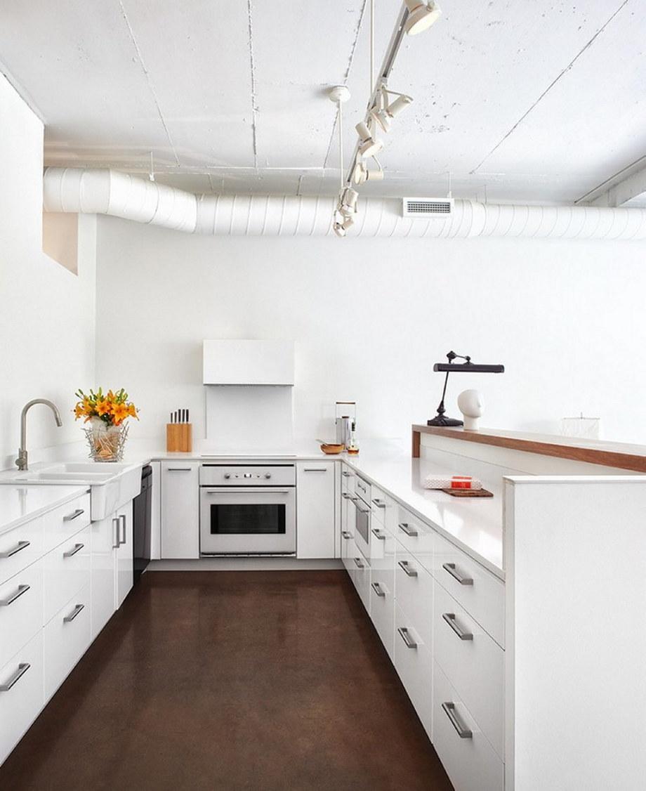 Modern Apartment In Loft Style From Stephane Chamard - Kitchen