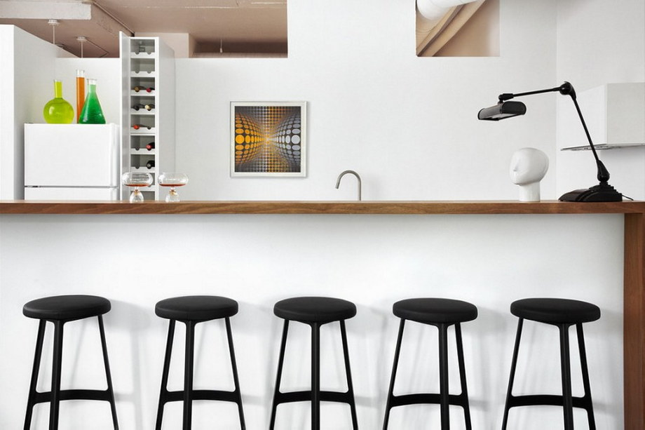 Modern Apartment In Loft Style From Stephane Chamard - Kitchen design ideas