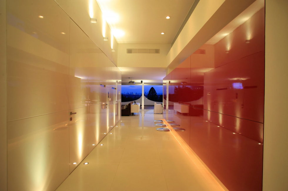 Penthouse with Glass Floor Bathroom, Guadalajara, Mexico - Corridor, Night
