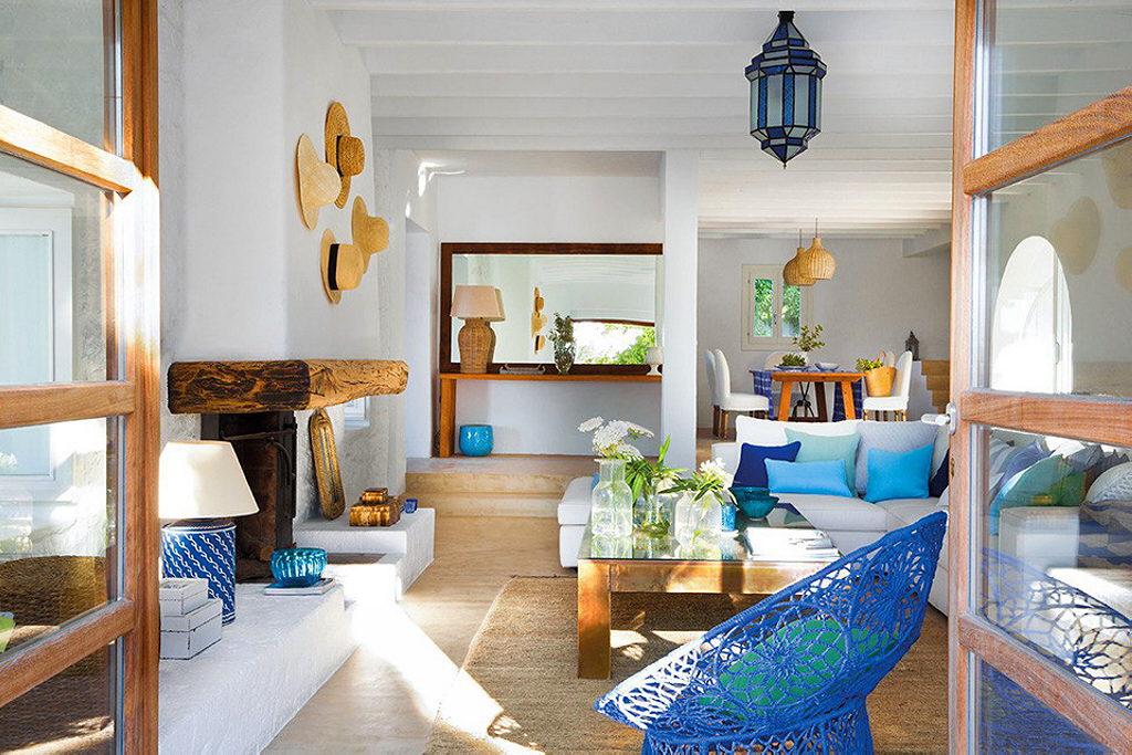 mediterranean style ibitza bedroom living room interior design