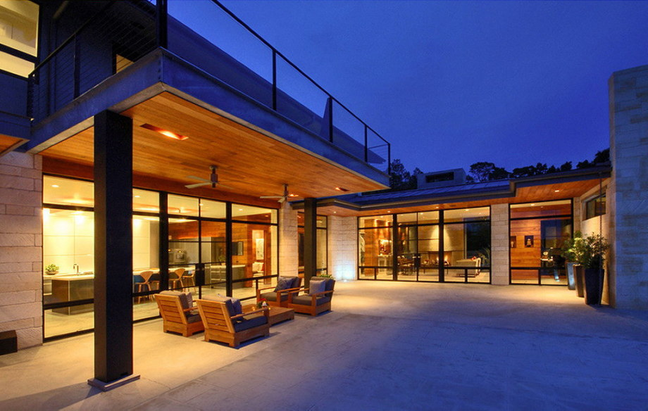 The elegant house in the picturesque hillside in Texas 30