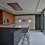 The modern five bedroom house in Madrid