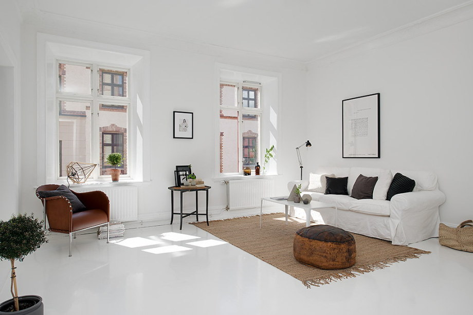 The snow-white three bedroom apartment in Sweden 4