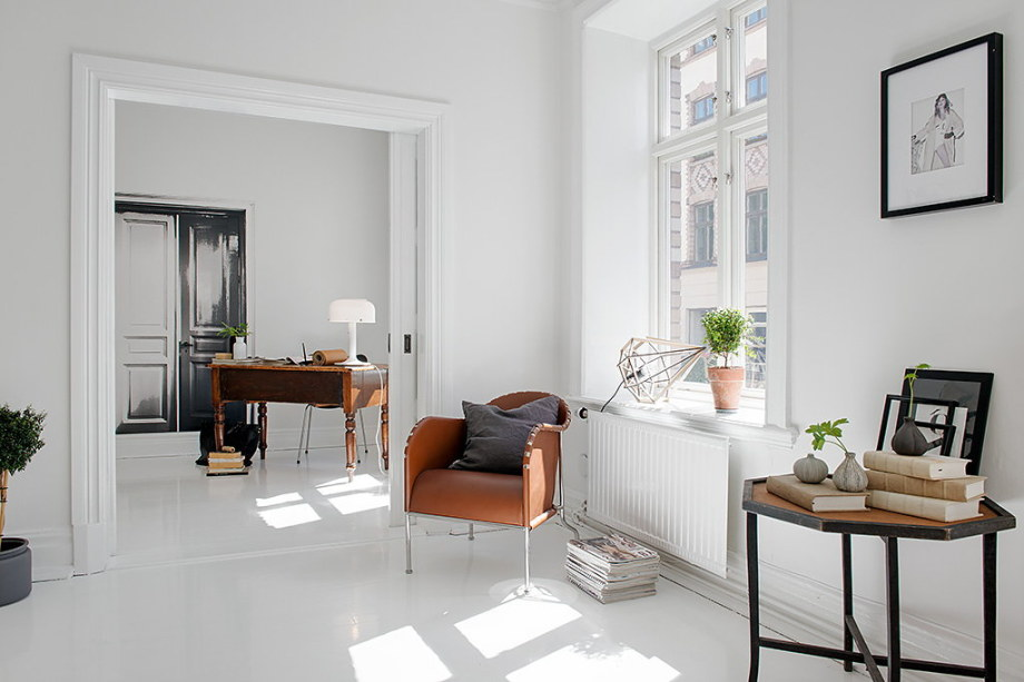 The snow-white three bedroom apartment in Sweden 7