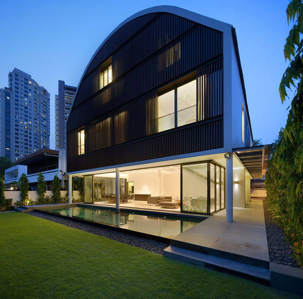 Wind Vault House From Wallflower Architecture Studio, Singapore 28