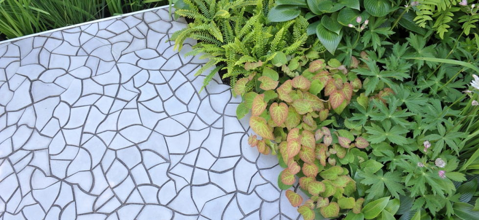 3D Tiles From Kaza Concrete - RBC WATERSCAPE GARDEN, Chelsea Flower Show '14, UK