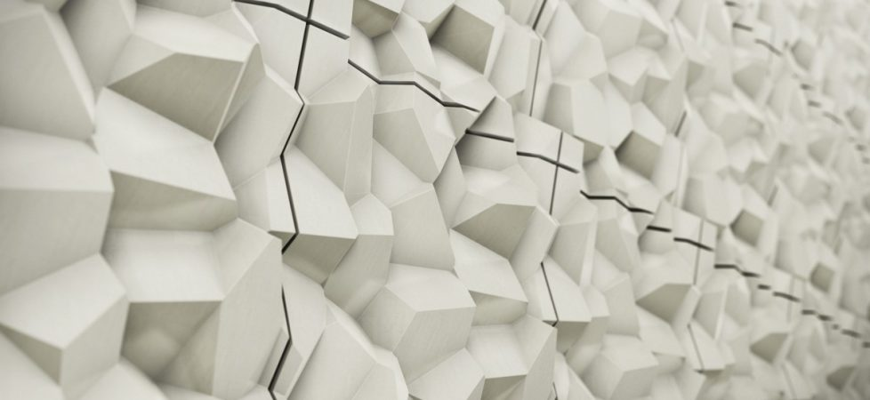 3D Tiles From Kaza Concrete – Penta by Cristina Vezzini