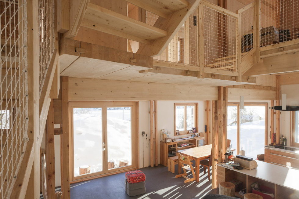 The House For A Family With Children at Switzerland Mountains From Kunik de Morsier architects 6