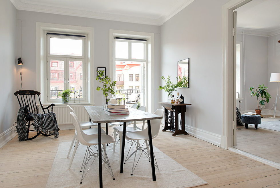 The modern design of the old apartment in Sweden 4