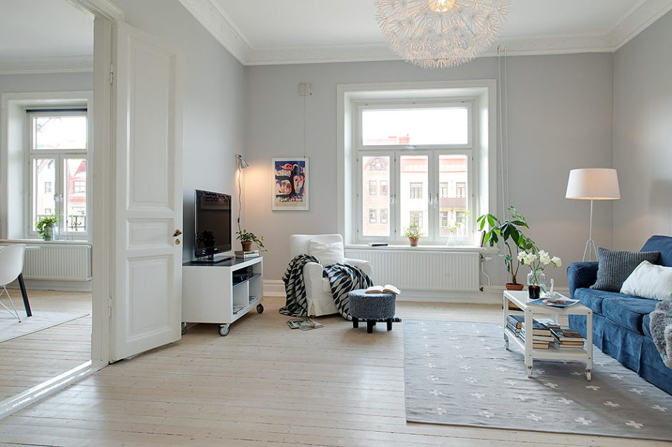 The modern design of the old apartment in Sweden 5