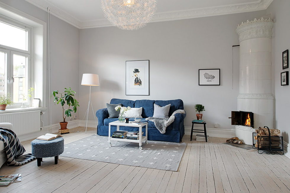The modern design of the old apartment in Sweden 7