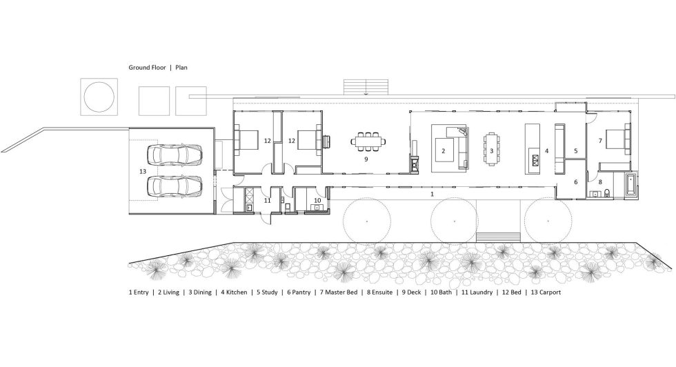 Boonah House In Queensland, Australia, From Shaun Lockyer Architects - ground plan