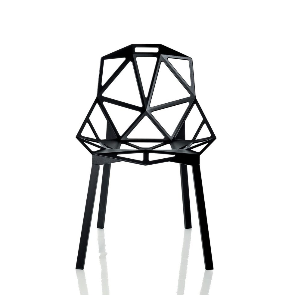 Chair One Stacking Chair by Magis - Black