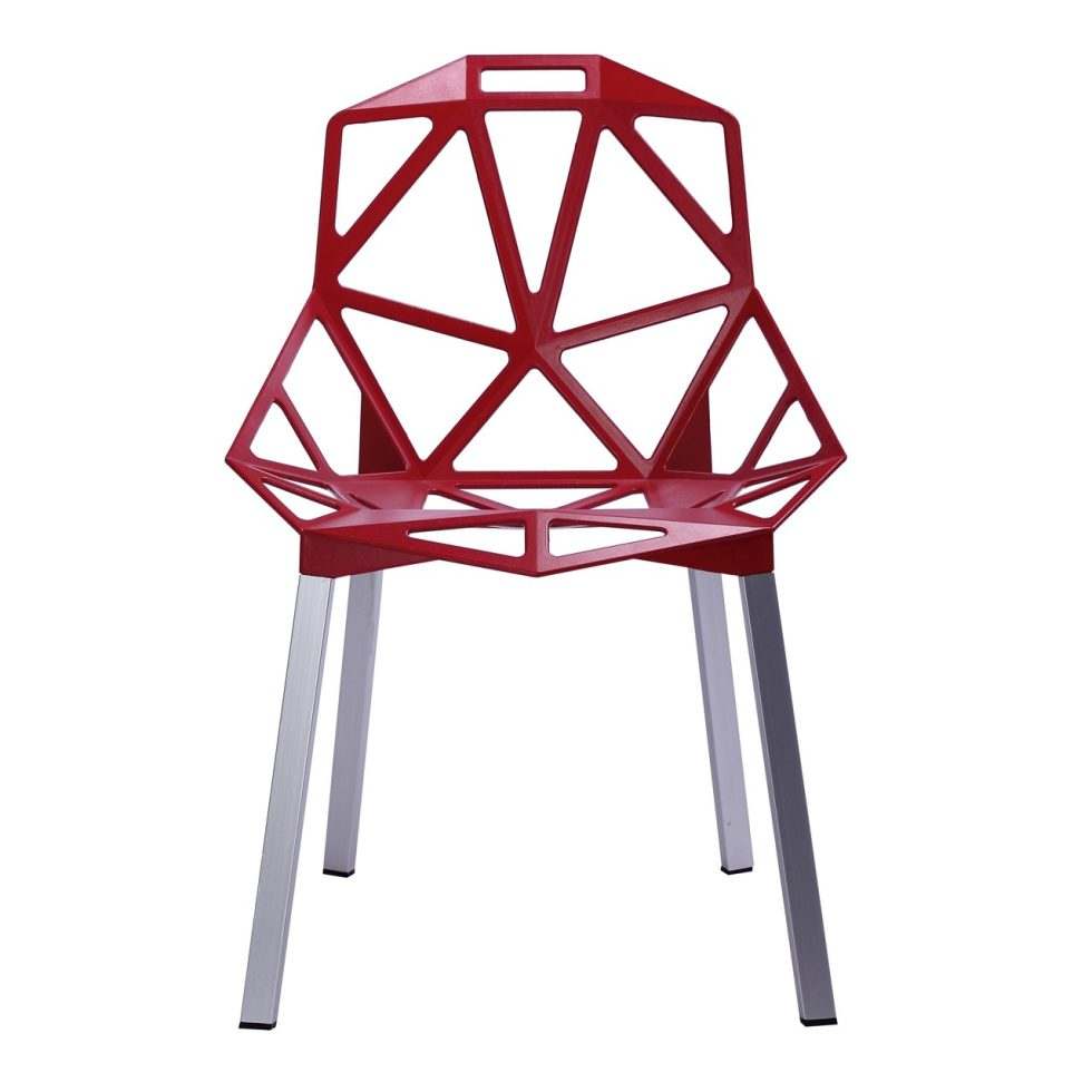 Chair One Stacking Chair by Magis - Red