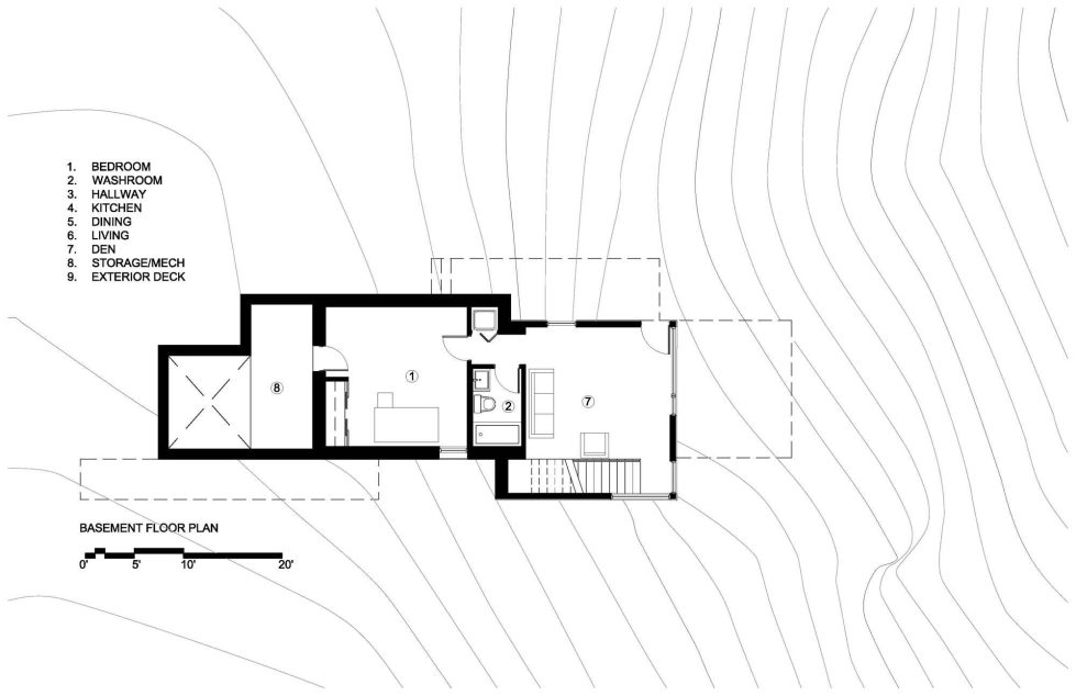 Country House In Minimalism Style From Christopher Simmonds Architect - Basement Floor Plan