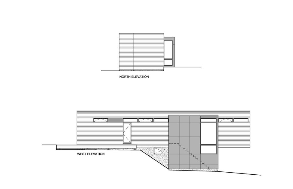 Country House In Minimalism Style From Christopher Simmonds Architect - North West Elevation