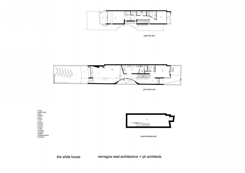 Gallery House From Australian Bureau Nervegna Reed Architecture - Plan 1