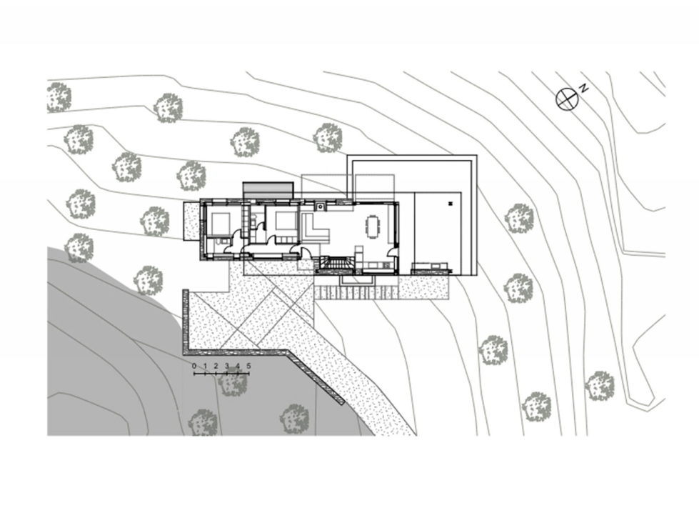 Luxurious Residency Upon The Project Of Z-level Studio On The Shore Of Aegean Sea - Ground Floor Plan House 2