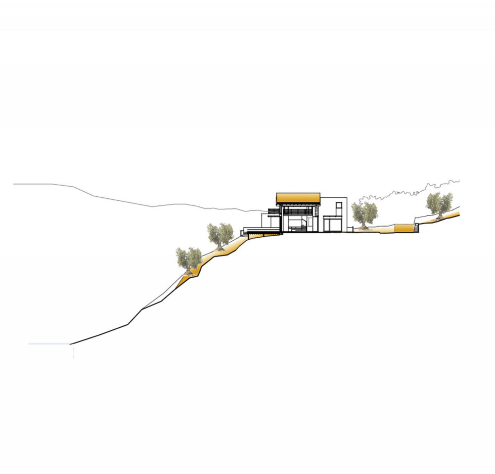 Luxurious Residency Upon The Project Of Z-level Studio On The Shore Of Aegean Sea - Section House 1