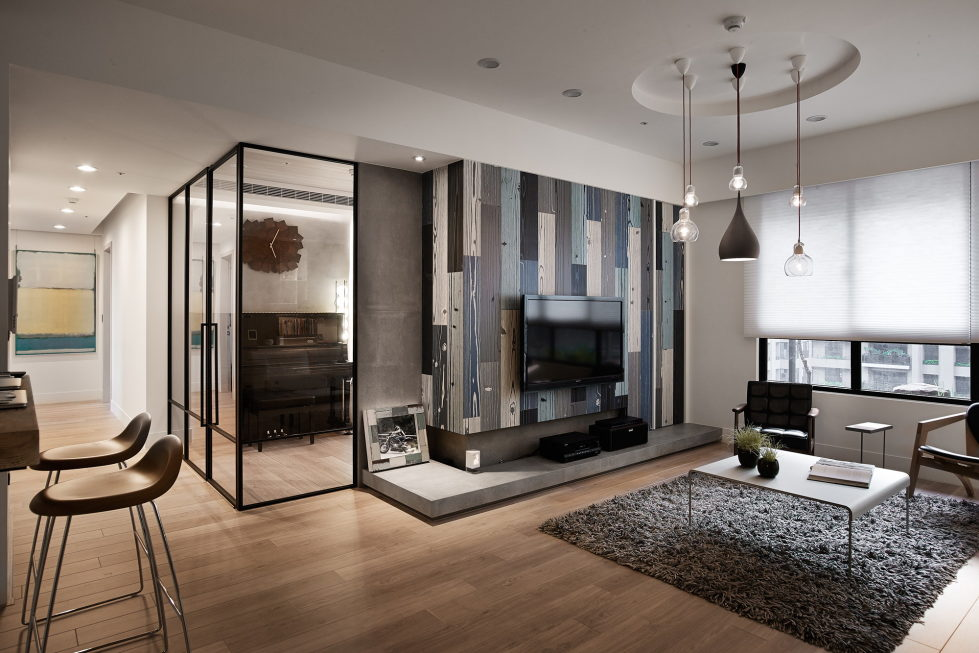 Modern apartment in european style in taiwan from for Modern small flat interior design