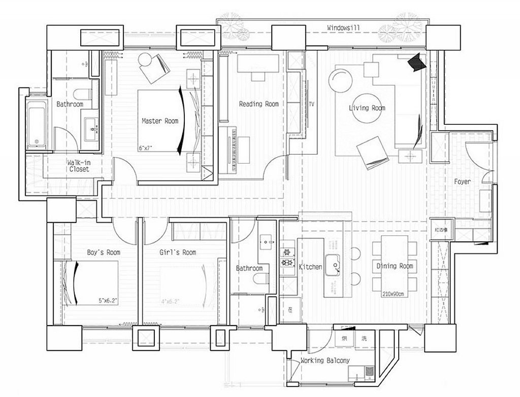 Apartments Floor Plans Design Style Amusing Apartment In European Style In Taiwan From Fertility Design Studio Design Inspiration
