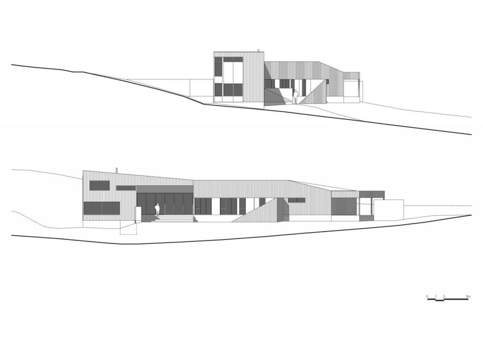 Modern Family Valley House In Australia From Philip M Dingemanse - Elevation 2