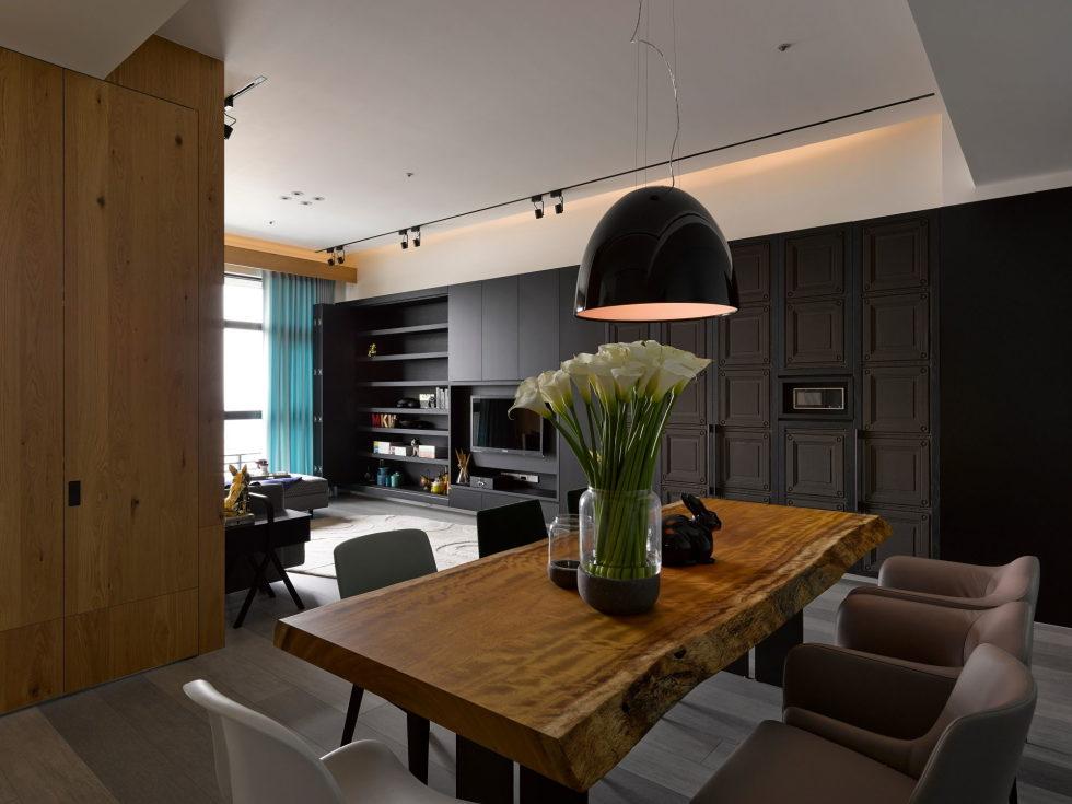 Modern Three-Room Apartment From Ganna Design Studio In Taipei, Taiwan 10