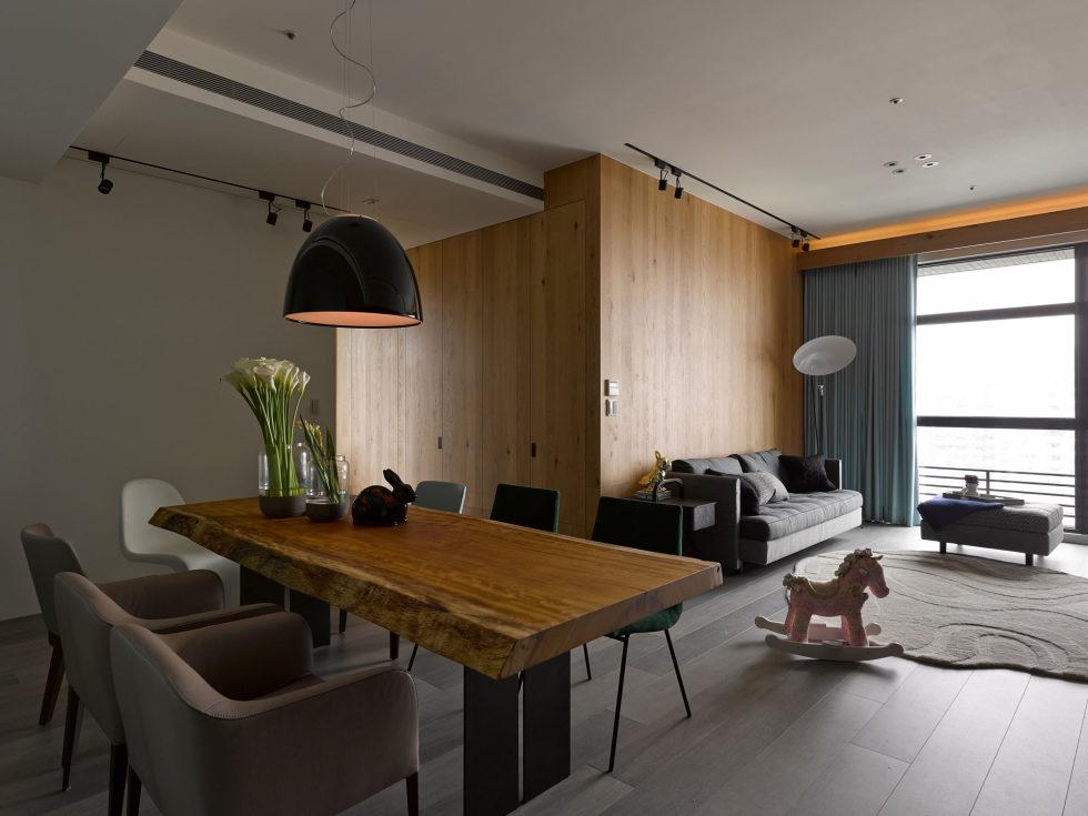 Modern Three-Room Apartment From Ganna Design Studio In Taipei, Taiwan 7