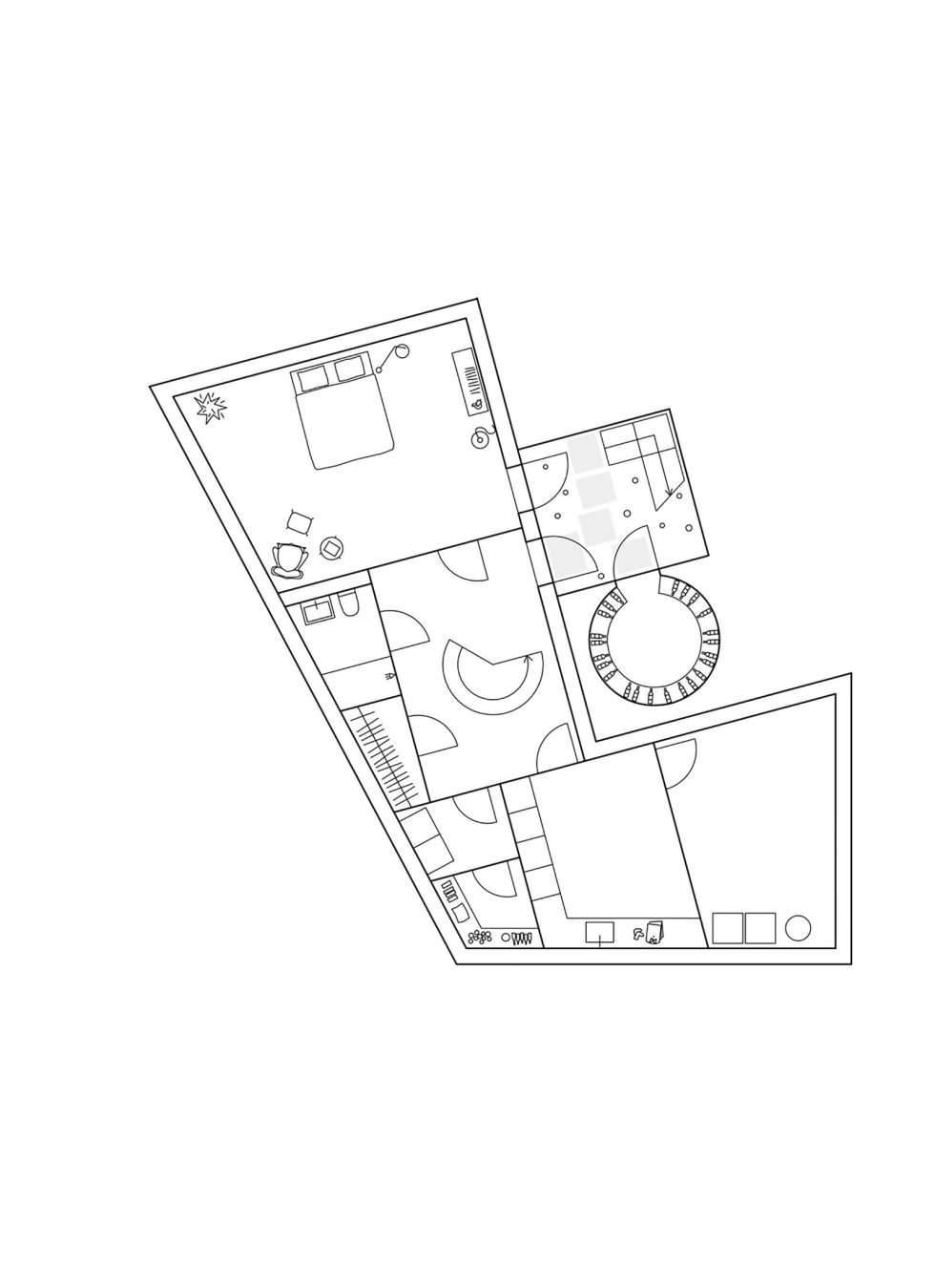 Molle By The Sea House From Elding Oscarson In Sweden - Basement Floor Plan