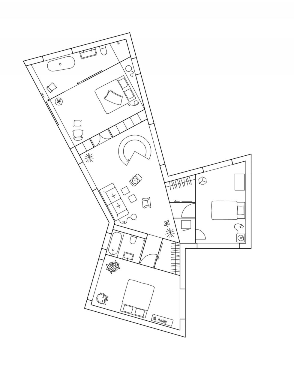 Molle By The Sea House From Elding Oscarson In Sweden - Second Floor Plan
