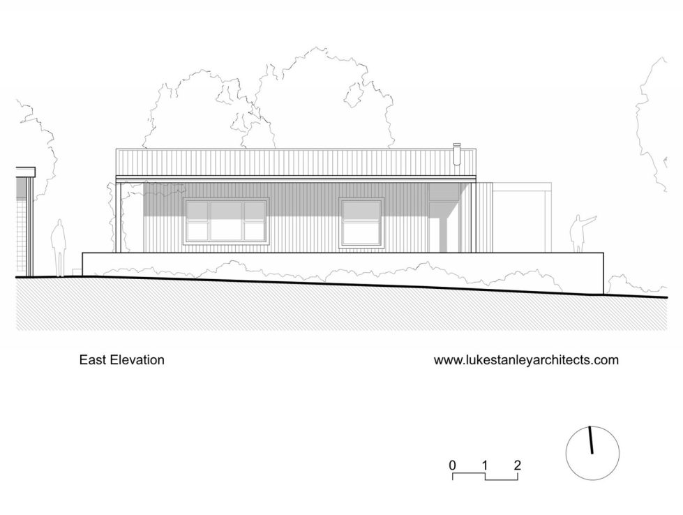 Plinth House in Australia from the Luke Stanley Architects - East Elevation