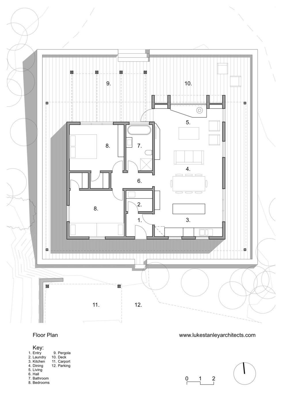Plinth House in Australia from the Luke Stanley Architects - Floor Plan
