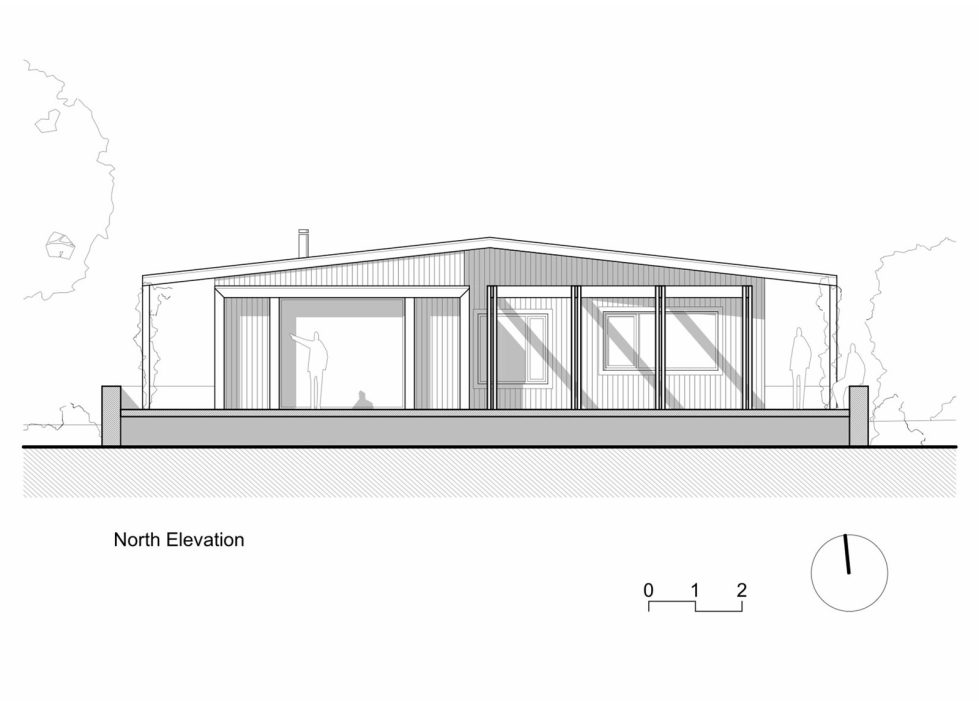 Plinth House in Australia from the Luke Stanley Architects - North Elevation