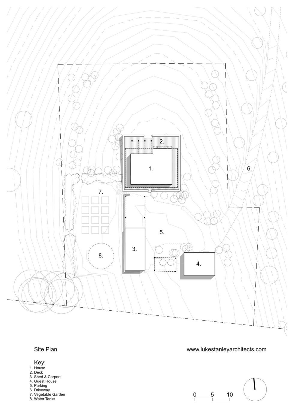 Plinth House in Australia from the Luke Stanley Architects - Site Plan