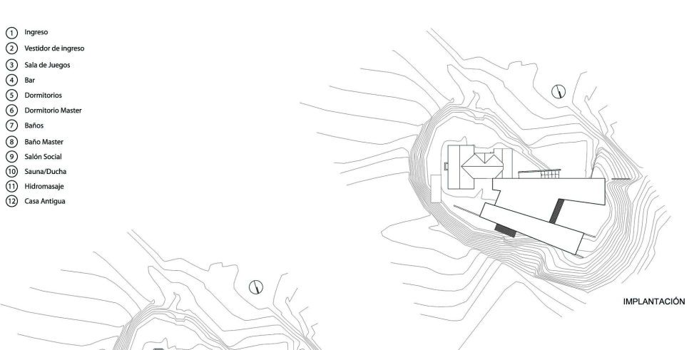 Rumilahua House Villa Among Volcanos In Ecuador, From Emilio Lopez Herrera и Luis Lopez - Site Plan