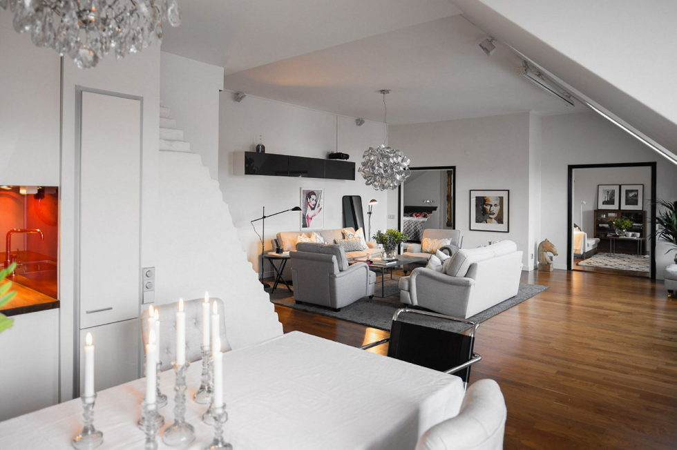 The apartment in Sweden as an example of the Scandinavian style 8