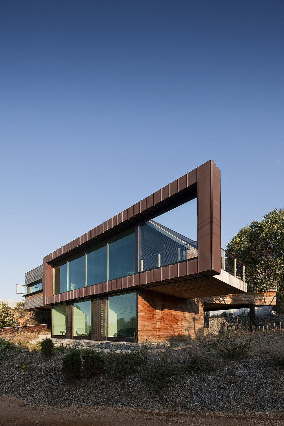 The country house Dame of Melba for resting at the ocean shore from Seeley Architects 5