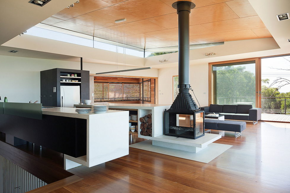 The country house Dame of Melba for resting at the ocean shore from Seeley Architects 8
