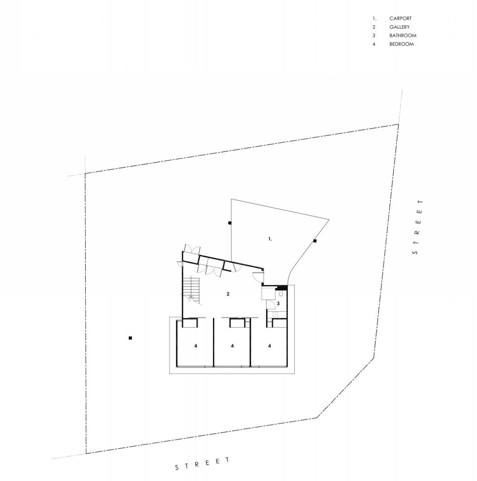 The country house Dame of Melba for resting at the ocean shore from Seeley Architects - Lower Floor Plan