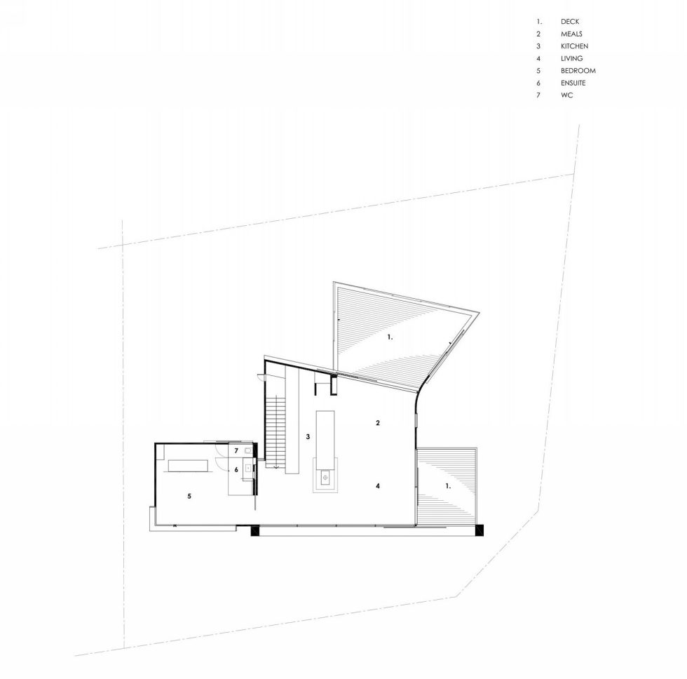 The country house Dame of Melba for resting at the ocean shore from Seeley Architects - Upper Floor Plan